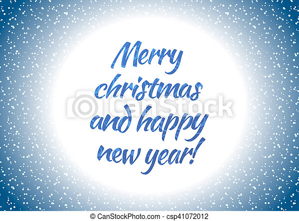 Merry christmas and happy new year, horizontal holiday card - csp41072012