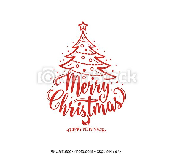 merry christmas and happy new year text xmas tree with decoration type merry christmas and happy new year text xmas tree https www canstockphoto com merry christmas and happy new year text 52447977 html