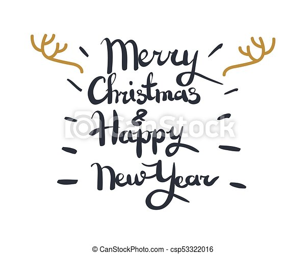 Merry christmas and happy new year greeting card. Merry christmas ...