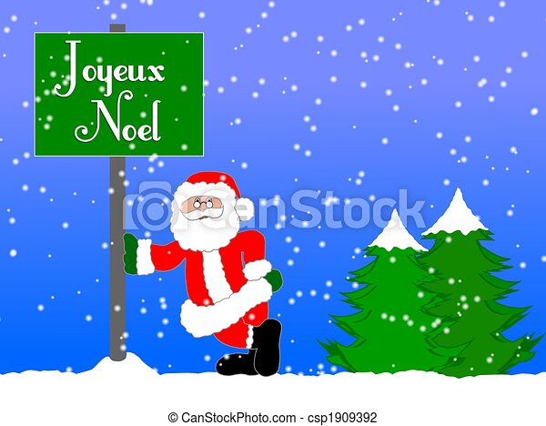 merry christmas background french csp1909392 - Merry Christmas French
