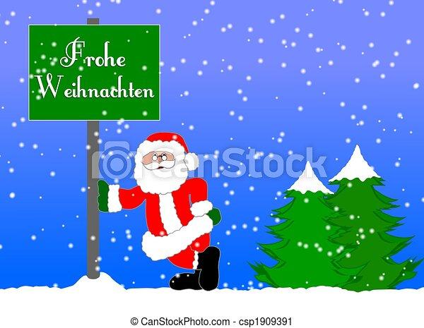 Merry christmas background german.