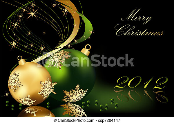 Merry Christmas  background - csp7284147