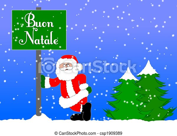 merry christmas background italian csp1909389