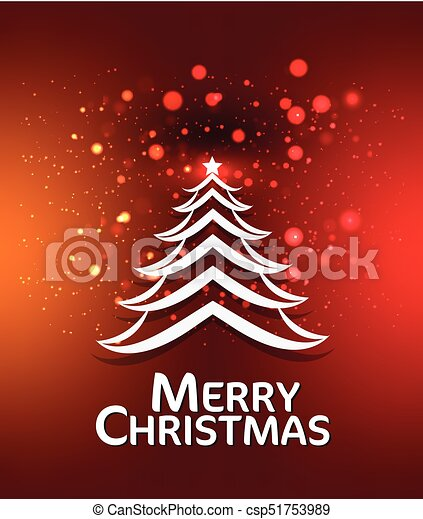 Christmas Backround.Merry Christmas Background With Tree Vector Illustration