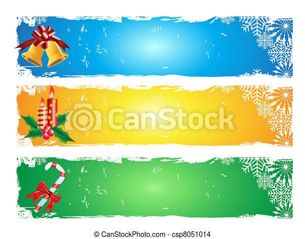 merry christmas banner - csp8051014
