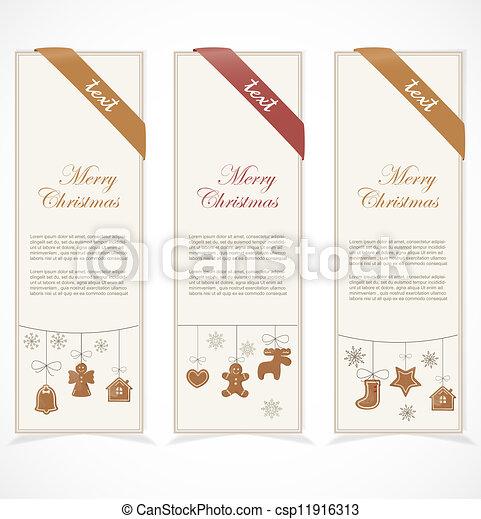 Merry Christmas banner - csp11916313