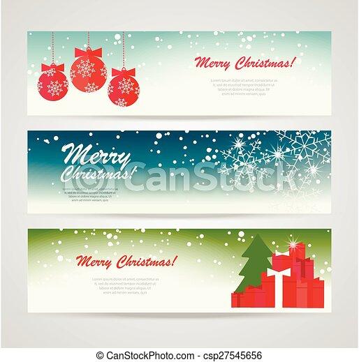 Christmas Banners.Merry Christmas Banners Set