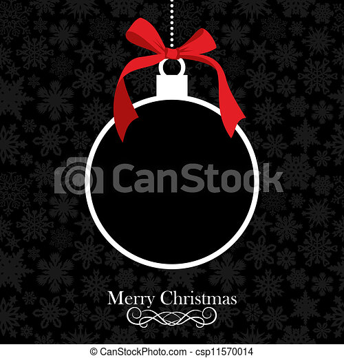 Merry Christmas bauble background - csp11570014