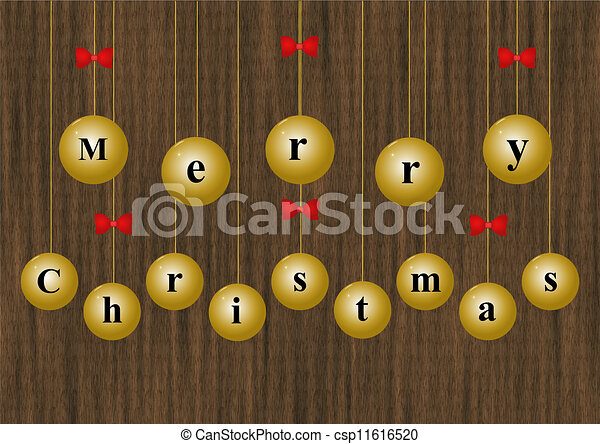 Merry Christmas baubles - csp11616520
