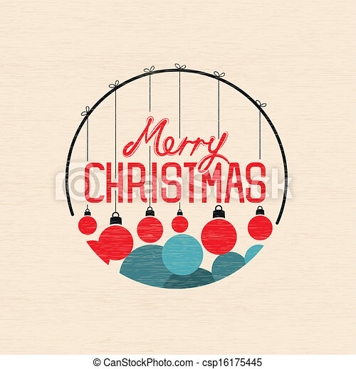 Merry Christmas Baubles - csp16175445