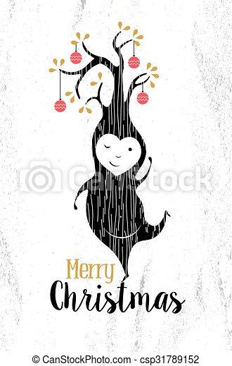 merry christmas black white elf csp31789152 - Merry Christmas Black And White