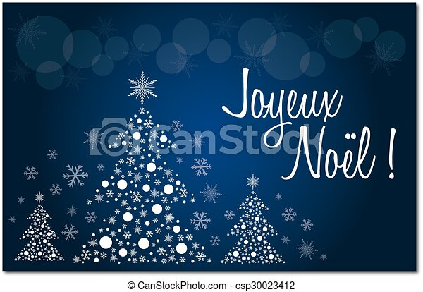 Merry christmas blue french greeting card in french illustration merry christmas blue french csp30023412 m4hsunfo