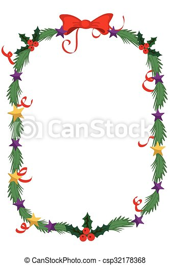 merry christmas border and decoration frame csp32178368 - Merry Christmas Border
