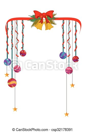 merry christmas border and decoration frame csp32178391 - Merry Christmas Border