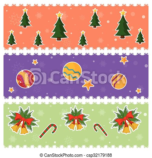 merry christmas border and decoration frame csp32179188 - Merry Christmas Border