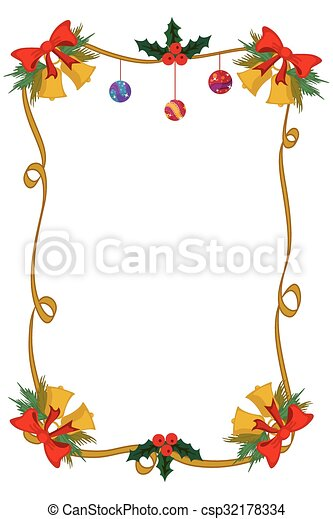 merry christmas border and decoration frame csp32178334 - Merry Christmas Border