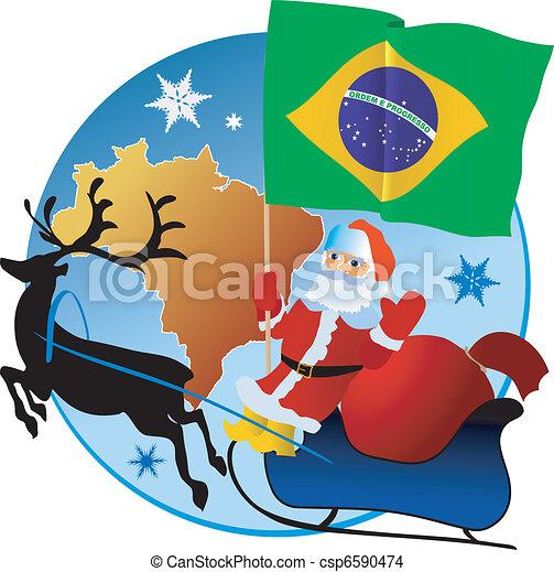 Merry Christmas, Brazil! - csp6590474