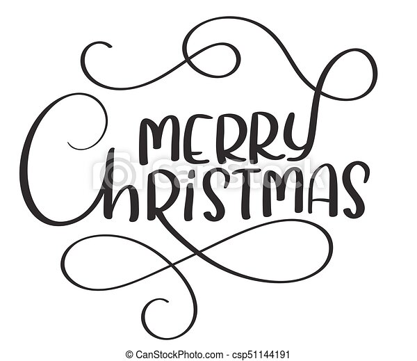 merry christmas calligraphy text on white background hand drawn lettering vector illustration eps10 https www canstockphoto com merry christmas calligraphy text on 51144191 html