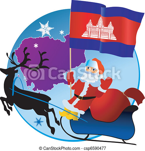 Merry Christmas, Cambodia! - csp6590477