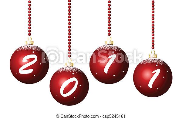 merry christmas card, 2011 - csp5245161