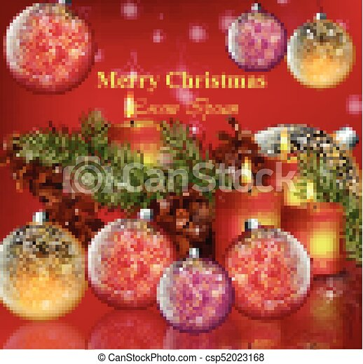 Christmas Card Background.Merry Christmas Card Background Vector Happy Holidays Realistic Illustrations