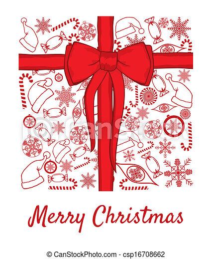 merry christmas card - csp16708662