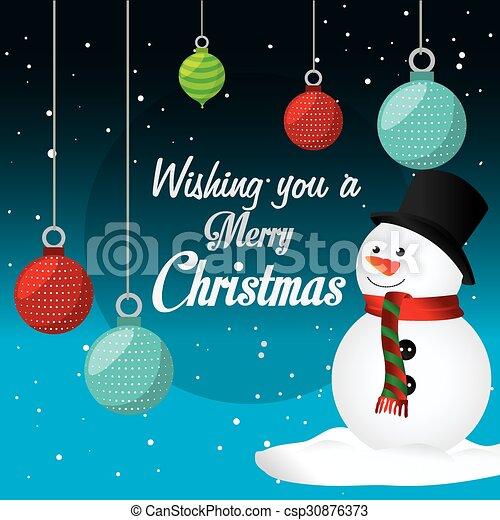 Merry Christmas Card Design Merry Christmas Card Design Vector