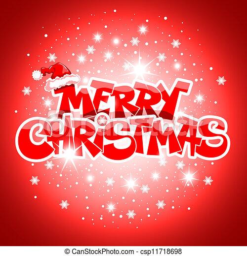Merry Christmas card - csp11718698