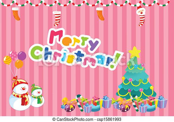 Merry christmas card - csp15861993