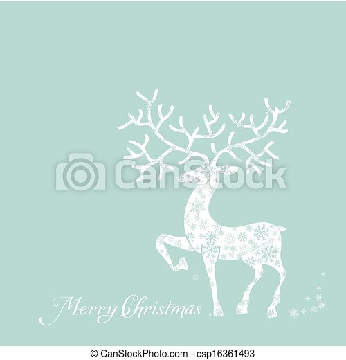 merry christmas card - csp16361493