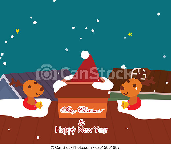 Merry christmas card - csp15861987