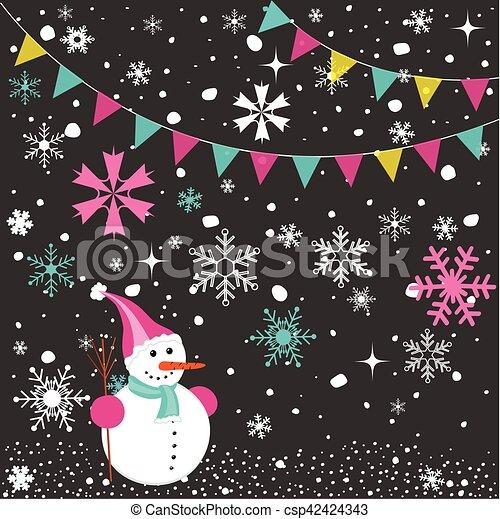 Merry Christmas card - csp42424343