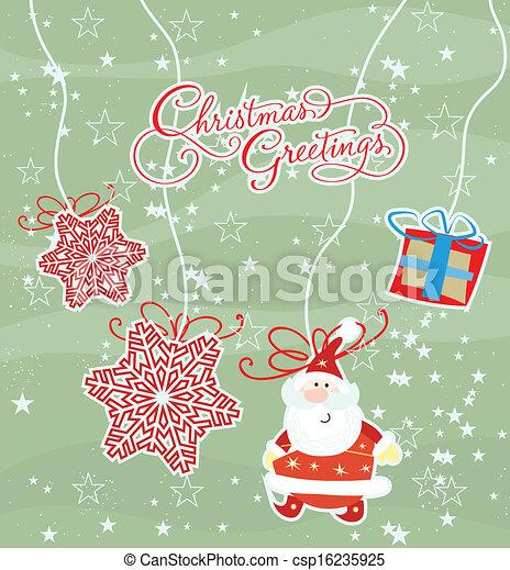merry christmas card - csp16235925