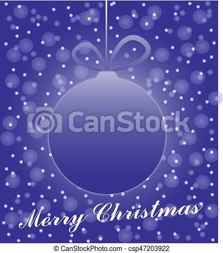 Merry christmas card - csp47203922