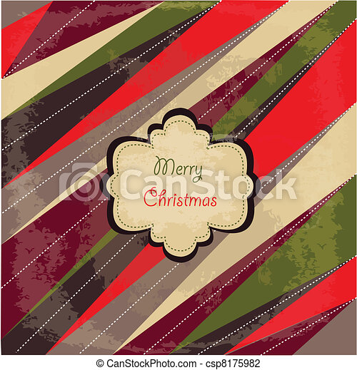 Merry Christmas card - csp8175982