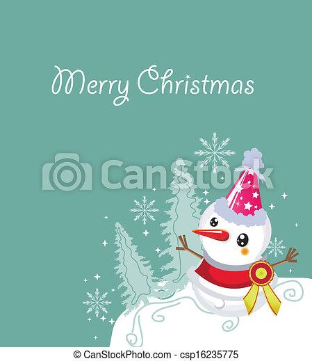 merry christmas card - csp16235775