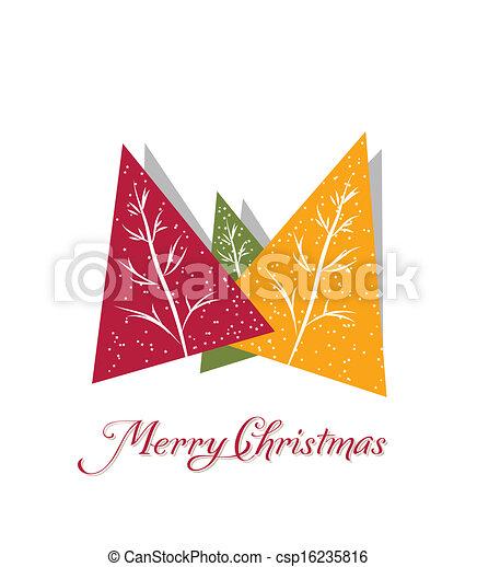 merry christmas card - csp16235816