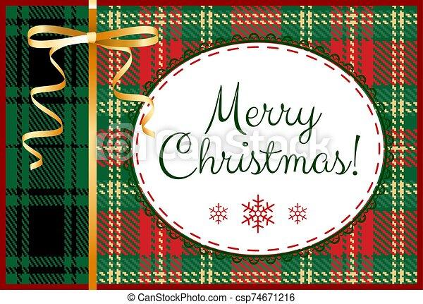 Merry Christmas card - csp74671216