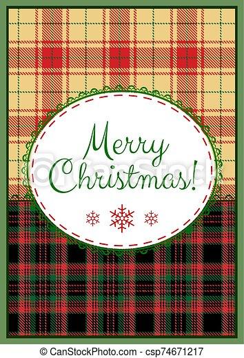Merry Christmas card - csp74671217