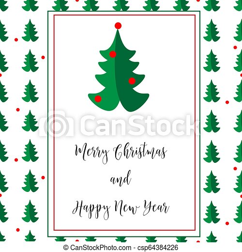 merry christmas card with new year tree on the white background beautiful xmas tree for merry christmas celebration https www canstockphoto com merry christmas card with new year tree 64384226 html