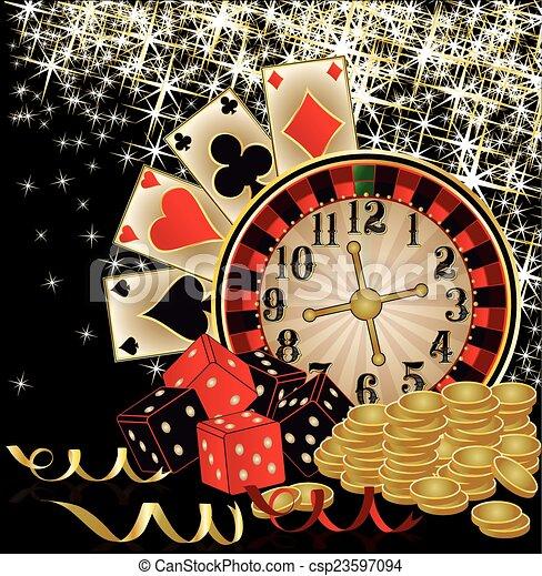 Merry Christmas Casino wallpaper - csp23597094