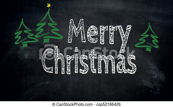 Christmas Chalkboard.Merry Christmas Chalkboard Concept