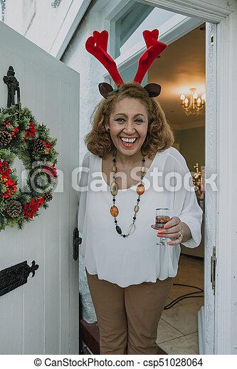 Merry Christmas, Come Inside! - csp51028064