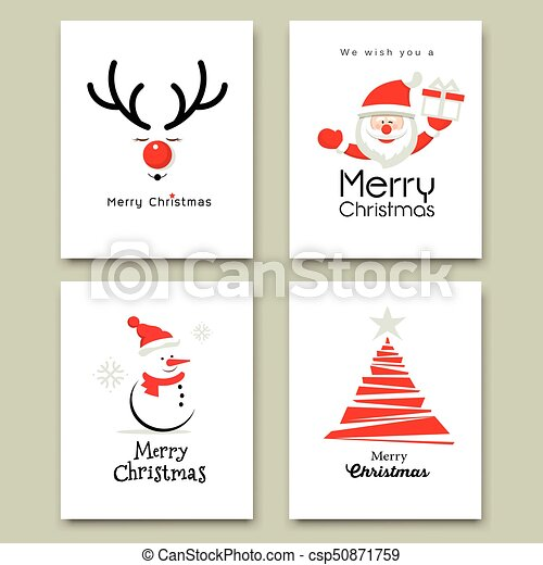 Merry Christmas Cover card - csp50871759