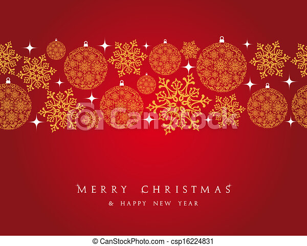 merry christmas decorations elements border csp16224831 - Merry Christmas Decorations