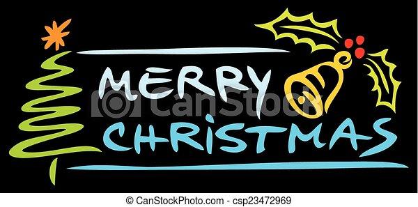 Merry Christmas design - csp23472969