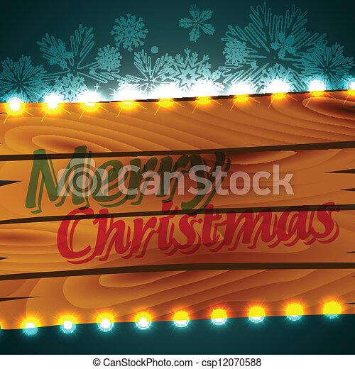 merry christmas design - csp12070588