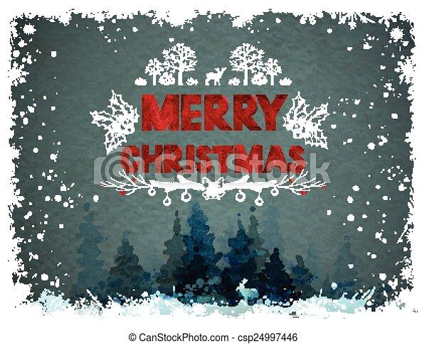 Merry Christmas design - csp24997446
