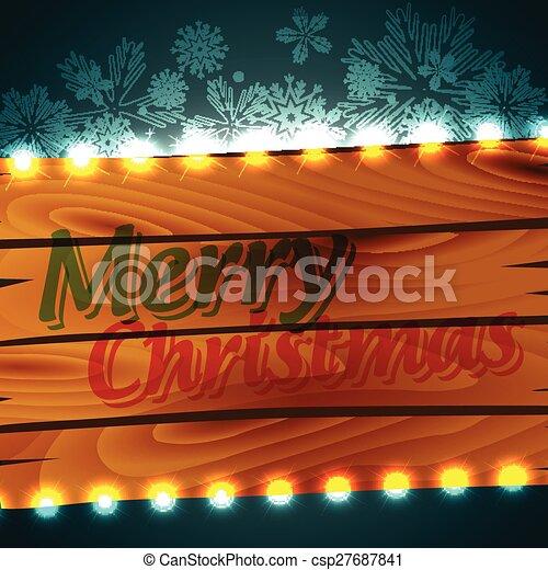 merry christmas design - csp27687841