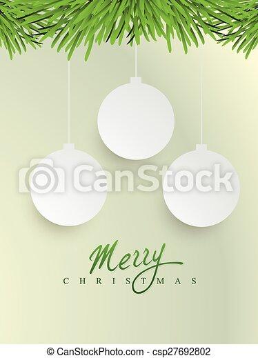 merry christmas design - csp27692802